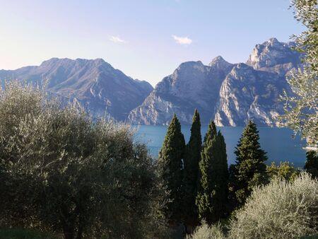 idyllic view of Torbole on Lake Garda in Italy
