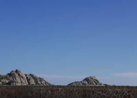 arid and sunny hinterland of the island of La Maddalena in Italy