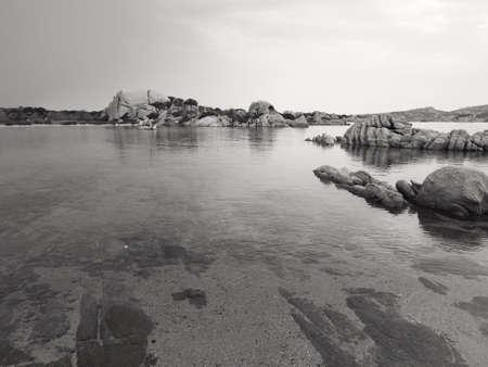marine panorama of the wonderful island of La Maddalena, in Italy