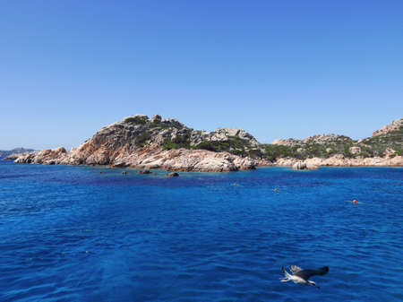 marine panorama of the wonderful island of L Maddalena, in Italy