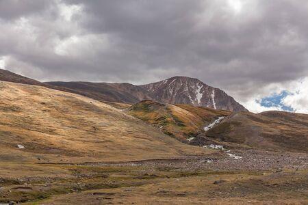 Typical view of Mongolian landscape. Mongolian Altai, Mongolia