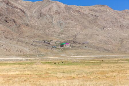 Typical landscapes of Mongolia. mountain slopes and valleys. Altai, Mongolia