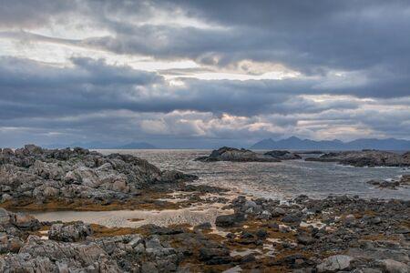 Summer travel in beautiful Norway. Travel weekend, vacation. Scandinavian countries, selective focus. Standard-Bild