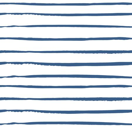 Seamless abstract pattern with hand drawn painted stripes