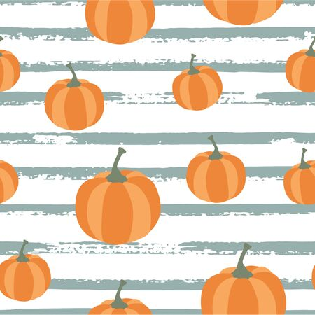 Fall and autumn season seamless pattern. Hand drawn scandinavian style repeated background texture for fabric, textile, wrapping paper, wallpaper surface design.