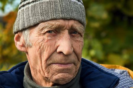 steadfast: Steadfast serious sight elderly men Stock Photo