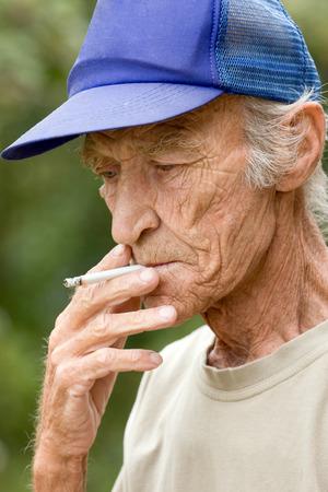 harmful: Harmful habit at elderly men - smoking