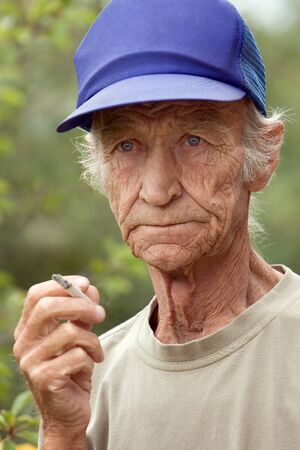 habit: Harmful habit at elderly men - smoking