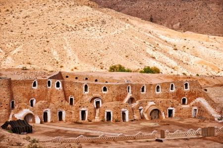 residential settlement: Berber dwelling in rocks, Matmata, Tunisia