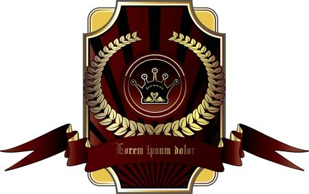 Gold frames decorative label illustration Stock Vector - 9694374