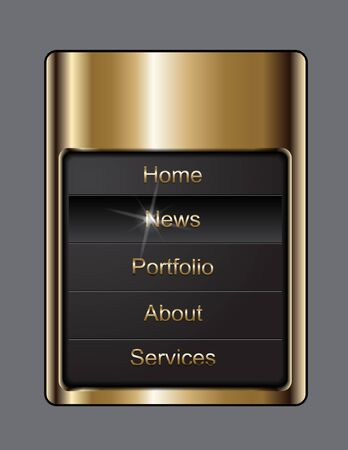 navigation buttons Illustration