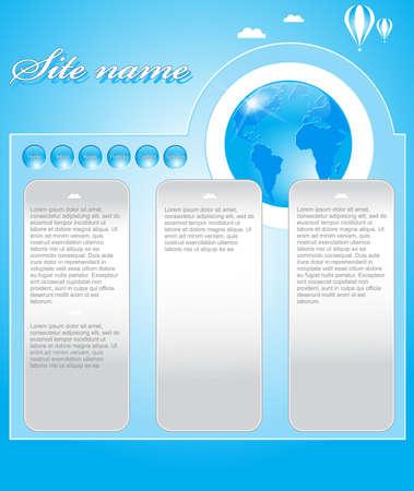 Web site design template Stock Vector - 9694382