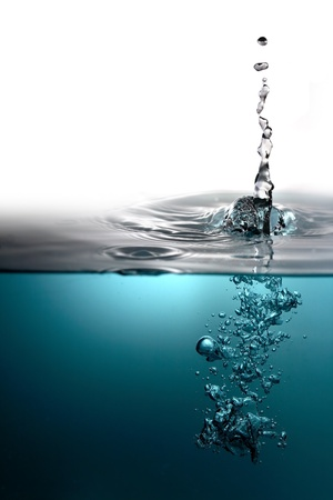 kék friss víz buborékok háttér Stock fotó