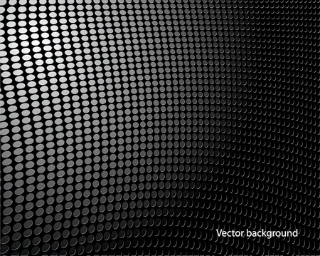 Black background of circle pattern texture