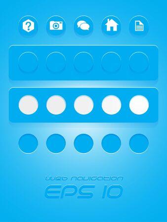 Vector eps10 blue web navigation Stock Vector - 18307902