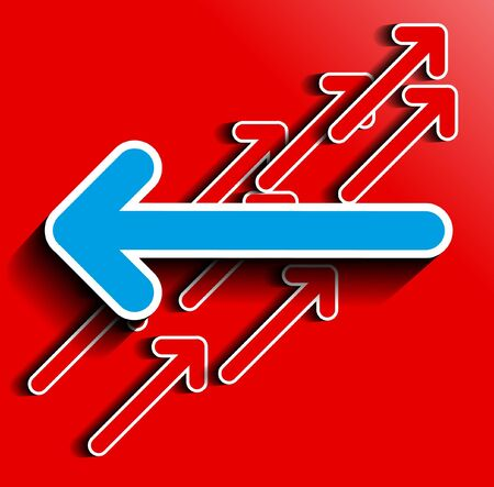 oposicion: Vector oposici�n a la flecha azul