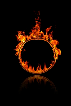 Ring of fire in black photo