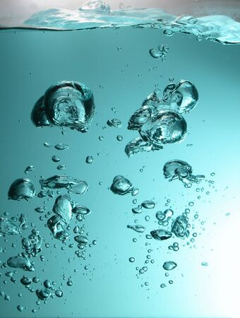 Water with air bubbles