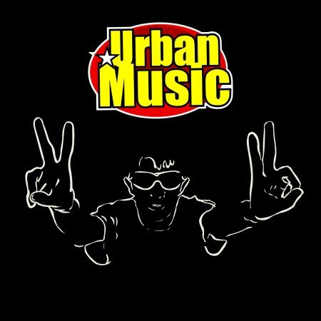 Városi zene Illusztráció