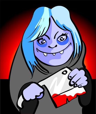 gore: monster girl halloween Illustration