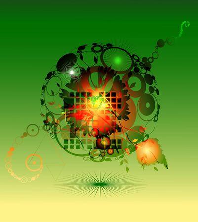 Zöld absztrakt háttér Illusztráció