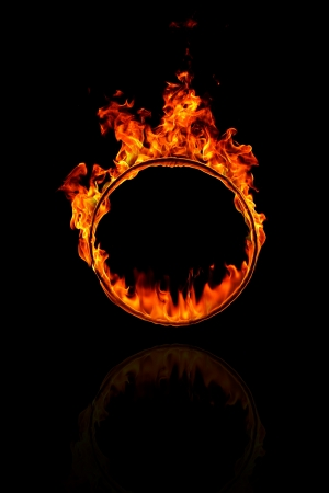 Ring of fire fekete alapon Stock fotó