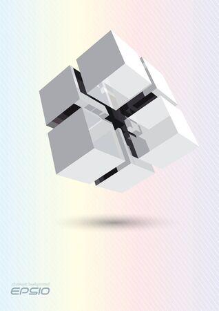 building blocks: Cube assembling from blocks
