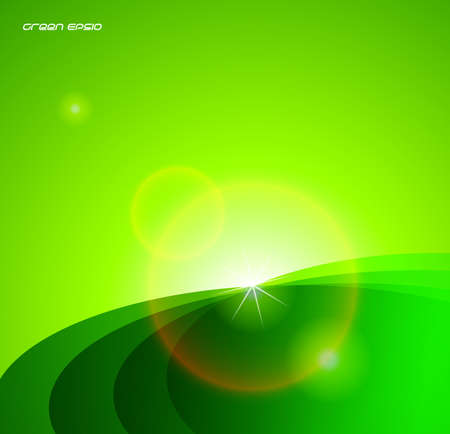 Green star background Stock Photo - 18417594