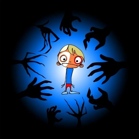 Children s horror Stock Photo