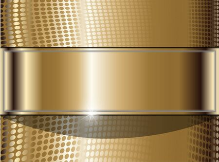 Gold banner Stock Photo