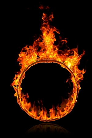 Ring of fire on a black background