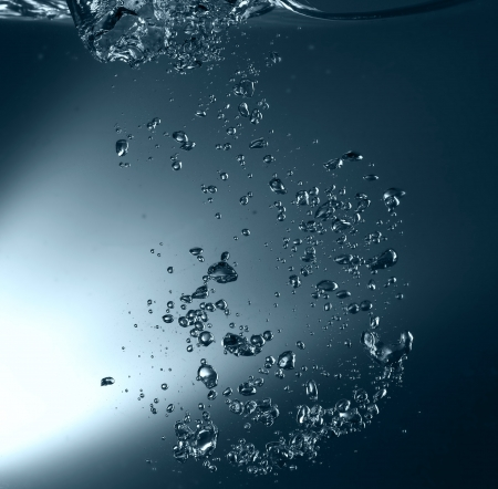 Water with air bubbles Stock Photo