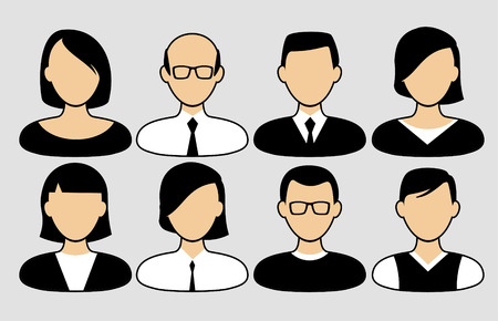 People icons. People Flat icons collection Illustration