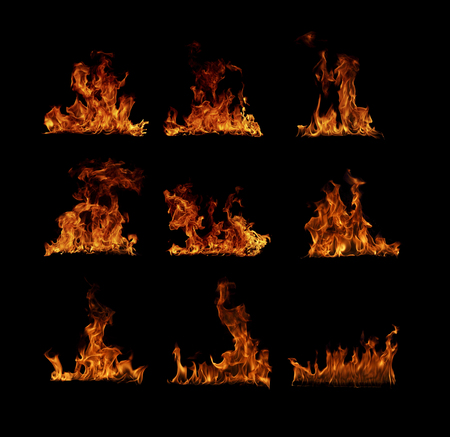 Fire flames collection