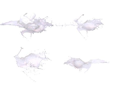 Milk Splash isolated in White Background