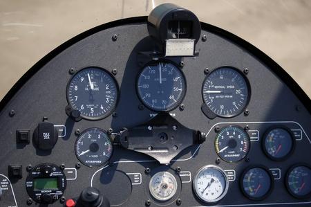 Autogyro cockpit photo