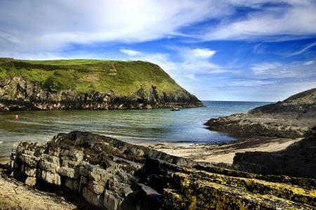 Een typisch klif landschap aan Cork, Ierland Stockfoto