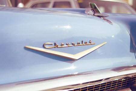 coche: Detail of a Chevrolet Bell Air