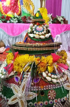 Navratri Indian Festival Stock Photo