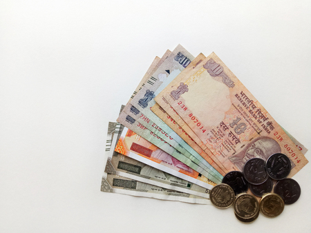 Indian Cash Currency Stock Photo