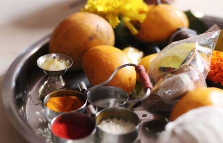 Vat Pornima Indian Festival Worship Dish Stock fotó