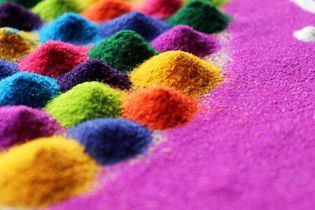 Colorful Rangoli Indian Festival Celebration Stock Photo