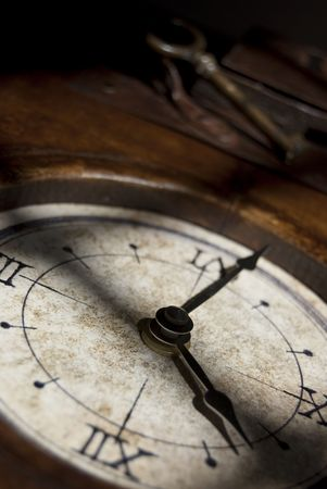 The pass of the time through an image of the clock photo