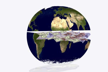 hemisphere: world crisis. The northern hemisphere is rich but the south is poor