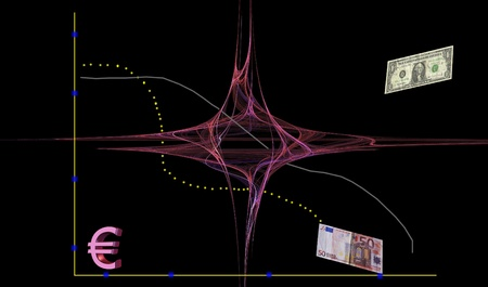 fluctuations: Financial turbulence .Conceptual image