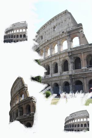 Rom. Kolosseum. Komposition mit malerischen Effekten. Standard-Bild - 9238418