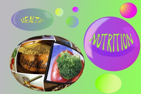 health and nutrition. Mediterranean diet. Conceptual image photo