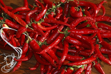 chilli typical food of Calabria photo