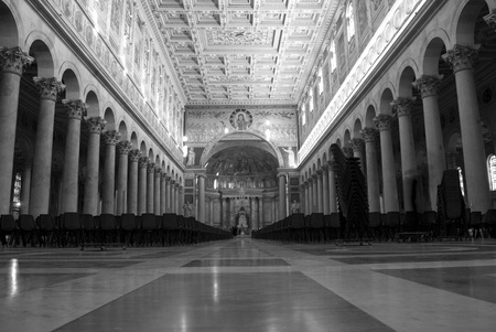 The inside of the basilica of St Paul in Rome Stock Photo - 13537568