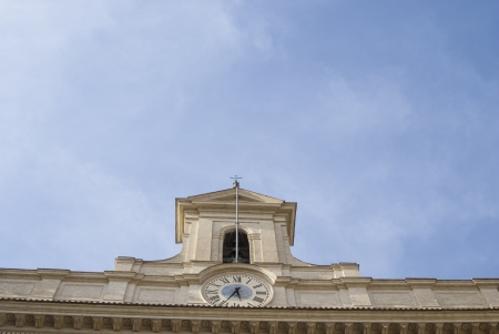 congressman: Rome detail of  Montecitorio Palace and the characteristic clock. It is  the Parliament building.